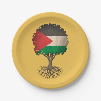 Palestinian Flag Tree of Life Customizable 7 Inch Paper Plate