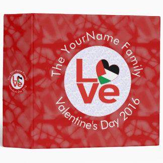 Palestinian LOVE White on Red 3 Ring Binder