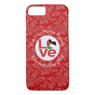 Palestinian LOVE White on Red iPhone 8/7 Case