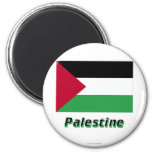 Palestinian Movement Flag with Name 2 Inch Round Magnet
