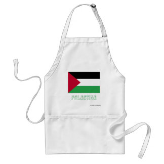 Palestinian Movement Flag with Name Adult Apron