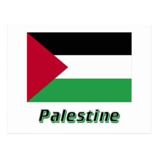 Palestinian Movement Flag with Name Postcard