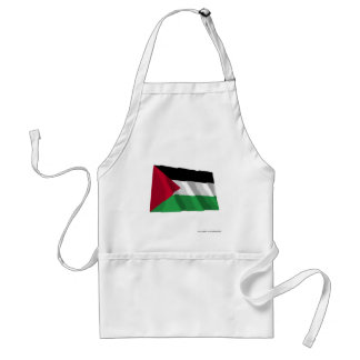 Palestinian Movement Waving Flag Adult Apron