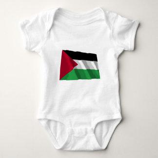Palestinian Movement Waving Flag Baby Bodysuit