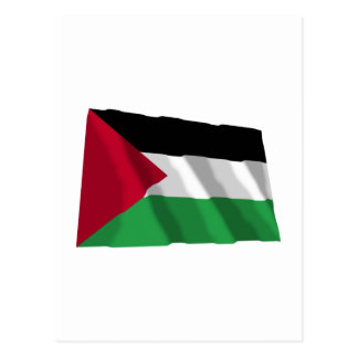 Palestinian Movement Waving Flag Postcard