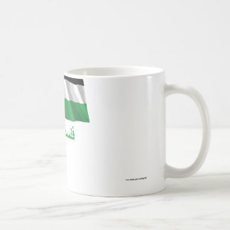 Palestinian Movement Waving Flag with Name in Arab Coffee Mug
