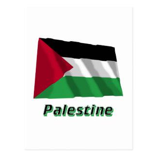 Palestinian Movement Waving Flag with Name Postcard