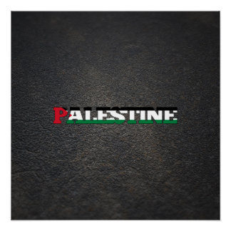 Palestinian name and flag poster