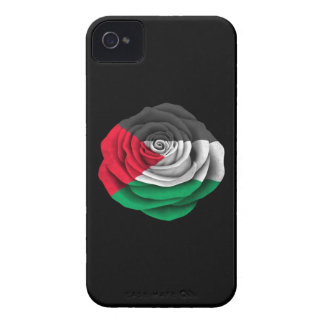 Palestinian Rose Flag on Black iPhone 4 Cases