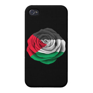Palestinian Rose Flag on Black iPhone 4 Cover