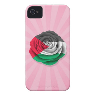 Palestinian Rose Flag on Pink Case-Mate iPhone 4 Cases