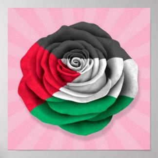 Palestinian Rose Flag on Pink Print