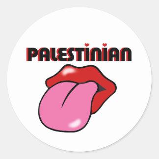 Palestino Pegatina Redonda