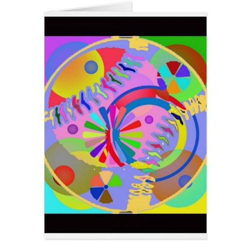 Paleta abstracta de colores felicitacion