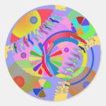 Paleta abstracta de colores pegatina redonda