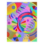 Paleta abstracta de colores postal