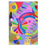 Paleta abstracta de colores tablero blanco