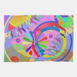 Paleta abstracta de colores toallas