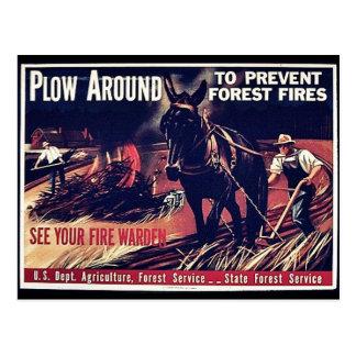 Paleta alrededor para prevenir los incendios fores postal