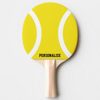 Paleta amarilla del ping-pong de la bola para los pala de tenis de mesa
