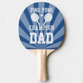Paleta azul del campeón del ping-pong del papá pala de tenis de mesa
