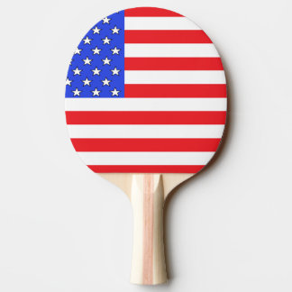 Paleta blanca de los E.E.U.U. América y azul roja  Pala De Tenis De Mesa