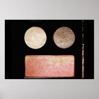 Paleta-Cara del maquillaje Impresiones