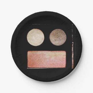 Paleta-Cara del maquillaje Plato De Papel 17,78 Cm