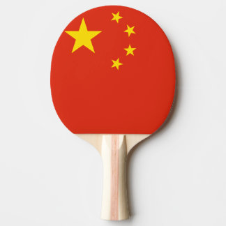 Paleta china del ping-pong de la bandera para los  pala de tenis de mesa