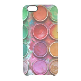 Paleta colorida elegante de la caja de color de la funda transparente para iPhone 6/6S