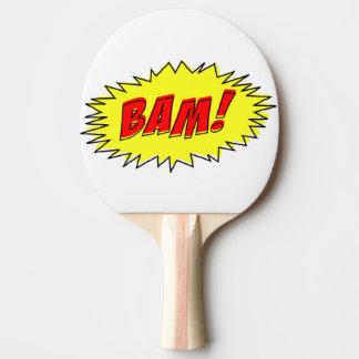Paleta cómica del ping-pong del Bam del vintage Pala De Ping Pong