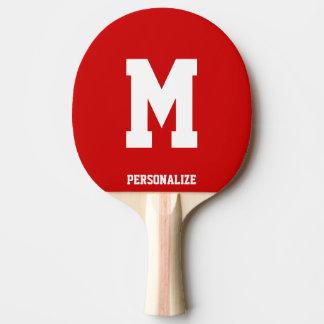 Paleta con monograma del ping-pong para los tenis pala de tenis de mesa