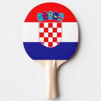 Paleta croata del ping-pong de la bandera para los pala de tenis de mesa