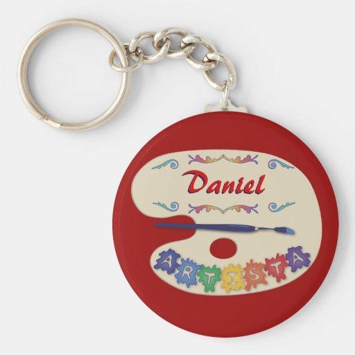 Paleta de Artista Basic Round Button Keychain