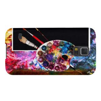PALETA de COLOR del ARTISTA, negra Funda De Galaxy S5