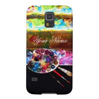 PALETA de COLOR del ARTISTA, negra Fundas Para Galaxy S5