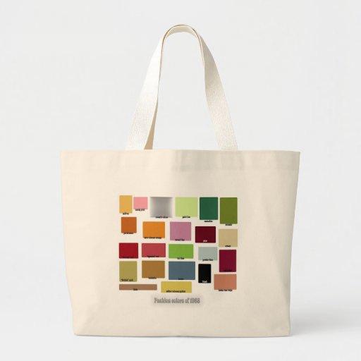 Paleta de colores de la moda de 1968 bolsa