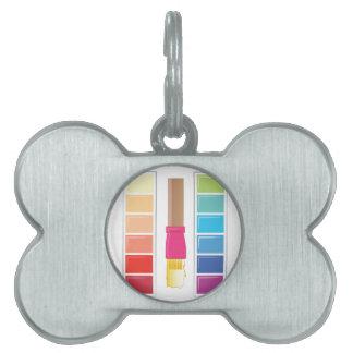 Paleta de colores placas mascota