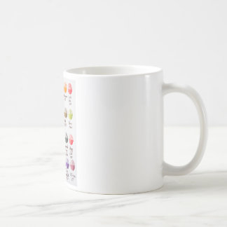 Paleta de colores taza