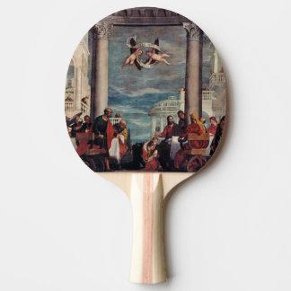 Paleta de encargo del ping-pong de la bella arte pala de tenis de mesa