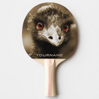 Paleta de encargo del ping-pong de la mirada de pala de tenis de mesa