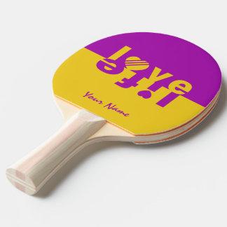Paleta de encargo del ping-pong de la VIDA del AMO Pala De Ping Pong