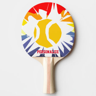 Paleta de encargo del ping-pong del agujero de la pala de tenis de mesa