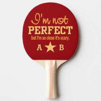 Paleta de encargo no perfecta del ping-pong del mo pala de ping pong