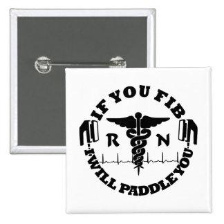 Paleta de la enfermera del RN que usted choca Pin Cuadrado