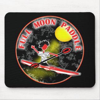 Paleta de la Luna Llena del kajak Alfombrillas De Raton