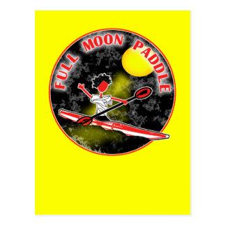 Paleta de la Luna Llena del kajak Postal