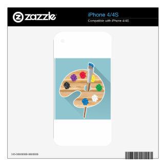 Paleta de los artistas del arte del vector del iPhone 4S calcomanía