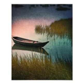 Paleta de medianoche en trullo y rosa del añil arte con fotos