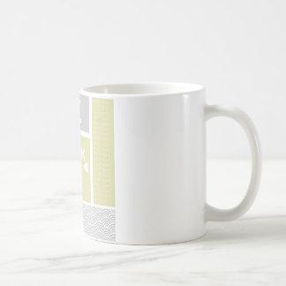 Paleta de tiempo amarilla y gris náutica de los pe tazas